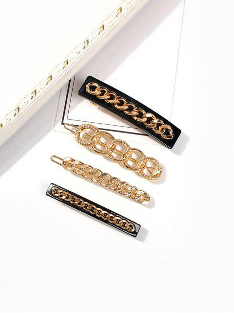 buy Alloy Chain Hairpin Set - GOLD  Mobile
