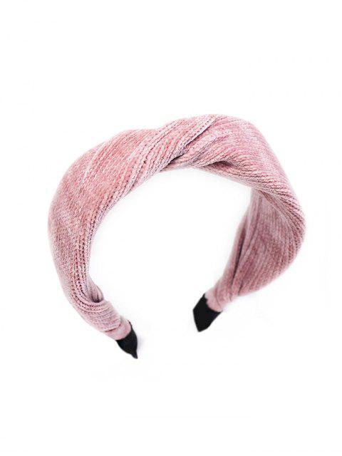 Bandeau Simple en Velours Côtelé - Rose   Mobile