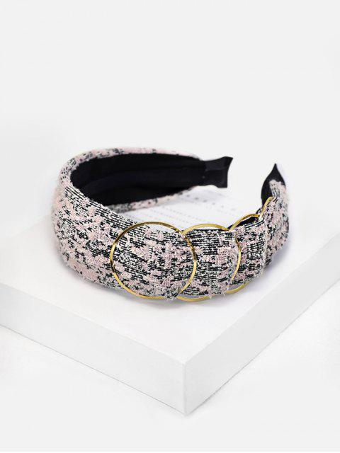 Bandeau en Alliage Orné de Tweed - Rose Rosé  Mobile