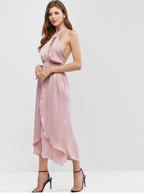 Vestido de Balança com Corte de Cintura - Rosa L Mobile