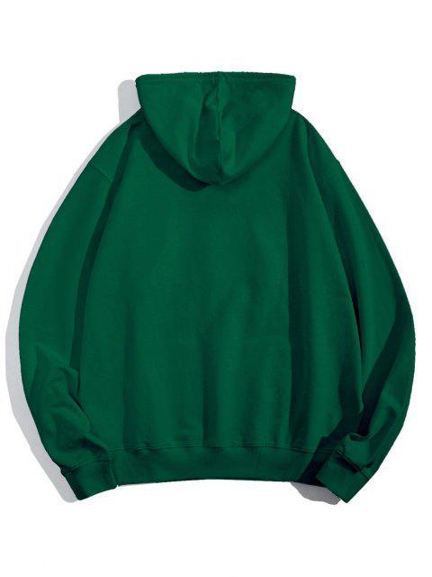 Sudaderas con Capucha con Estampados de ManosBolsilloFrontal - Verde de Jungla  L Mobile