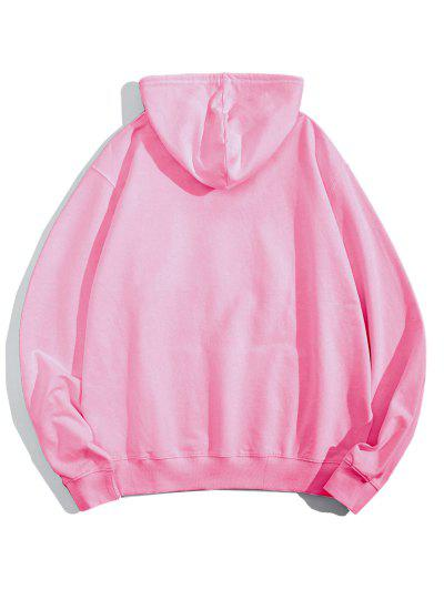 Helping Hands Graphic Front Pocket Lounge Hoodie - Pink Xl