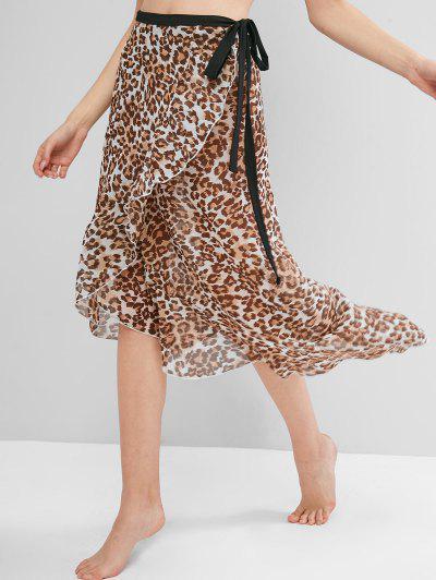 Beach Leopard Wrap Skirt
