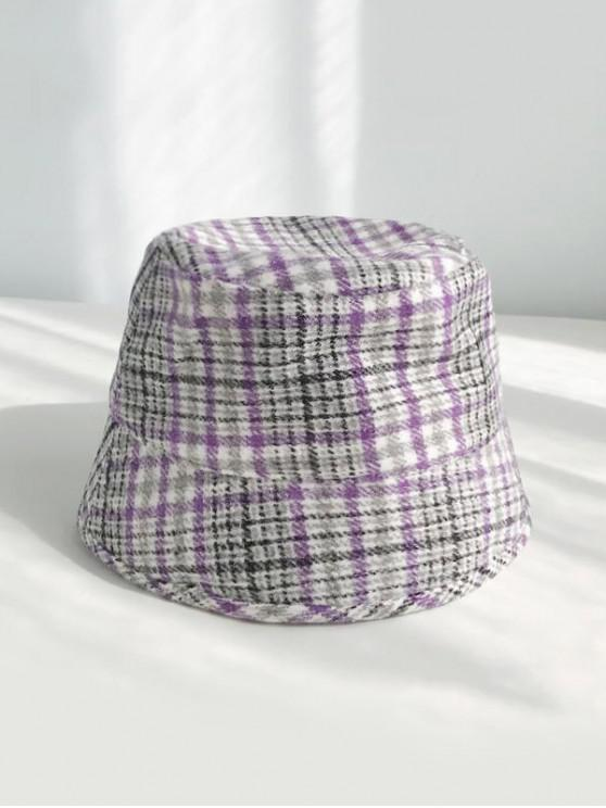 shops Houndstooth Winter Woolen Bucket Cap - MAUVE