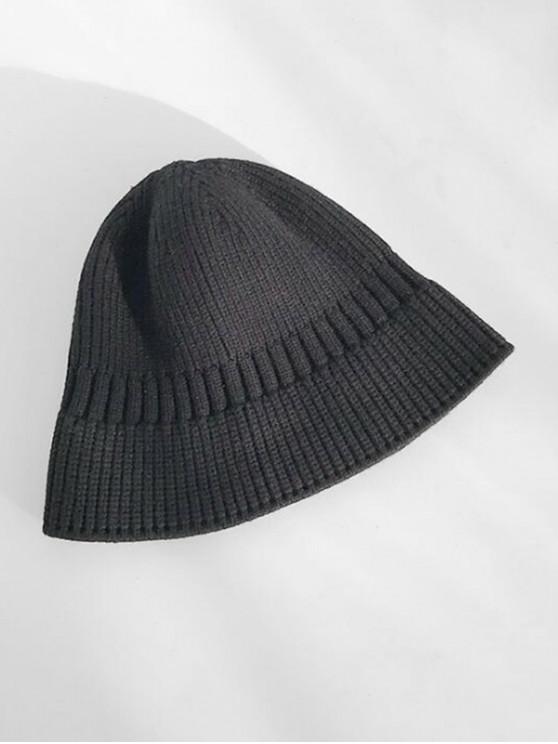 Chapeau d'Hiver Décontracté Elastique en Tricot - Noir
