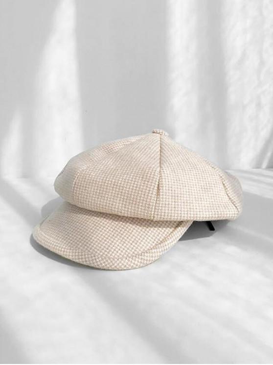 affordable Octagonal Peaked Beret Hat - BEIGE