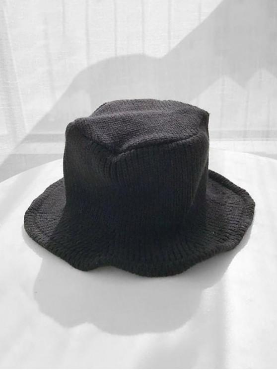 best Solid Knitted Winter Bucket Hat - BLACK