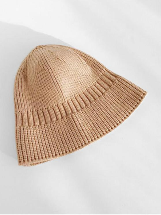 ladies Winter Casual Knitted Elastic Hat - LIGHT BROWN