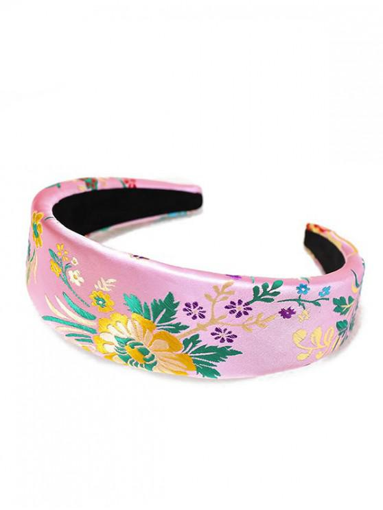 outfits Silk Embroidery Chinese New Year Rose Headband - PINK
