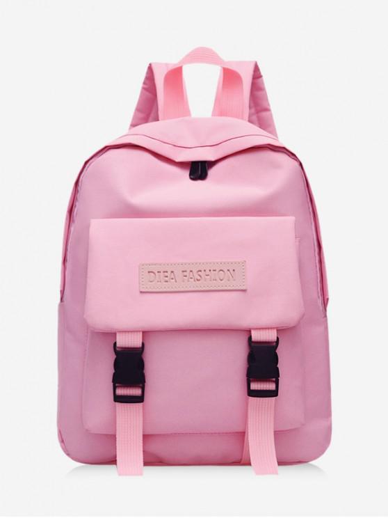 women Waterproof Solid Student Backpack - FLAMINGO PINK
