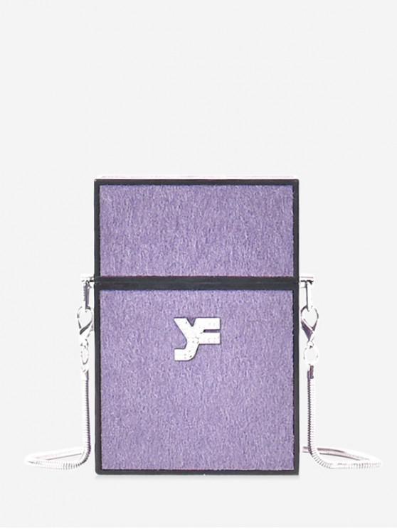 online Small Simple Shoulder Bag - PURPLE