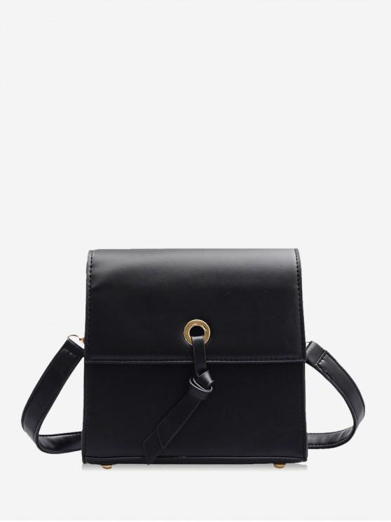 buy Knot Accent Mini Leather Crossbody Bag - BLACK