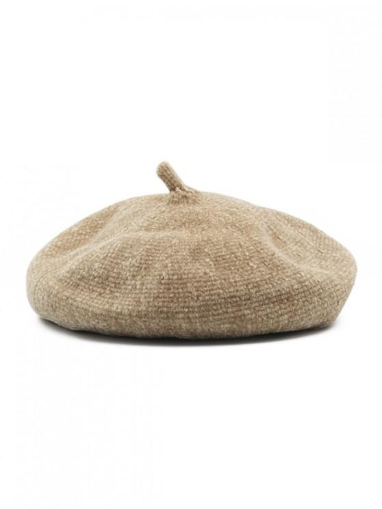 new Winter Knitted Painter Beret Hat - CAMEL BROWN