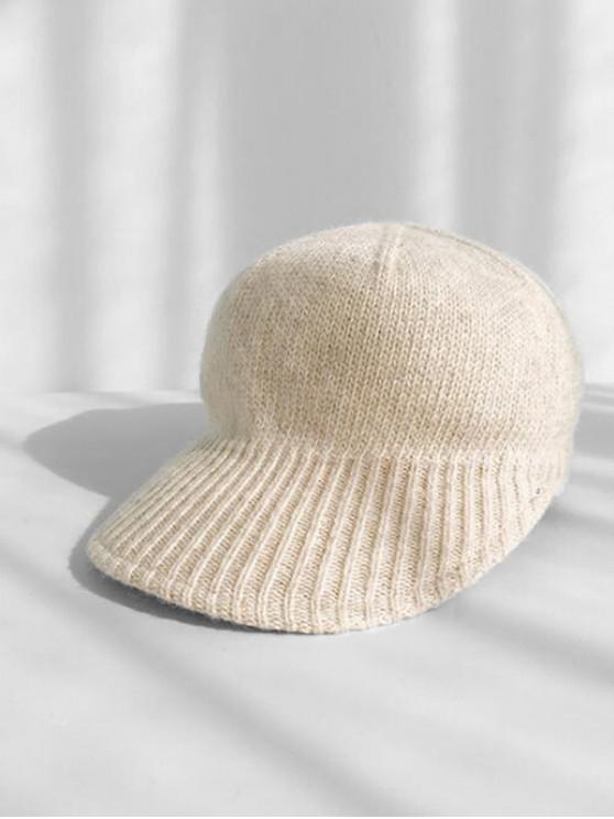 shop Knitted Winter Peaked Hat - BEIGE