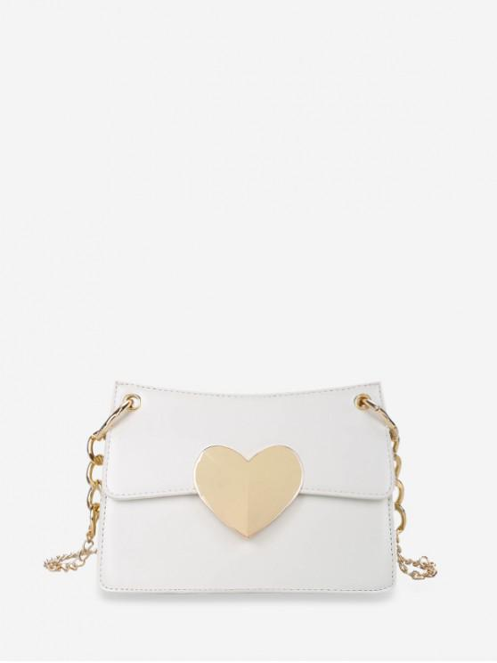 best Heart Hasp Shoulder Bag - MILK WHITE