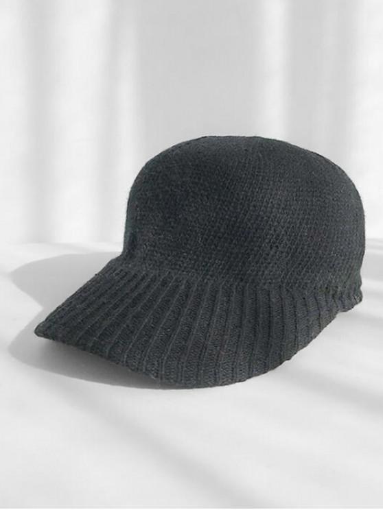 online Knitted Winter Peaked Hat - BLACK