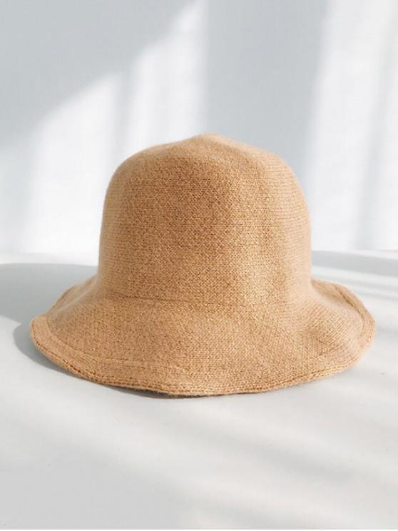 buy Winter Wool Knitted Korean Bucket Cap - CAMEL BROWN