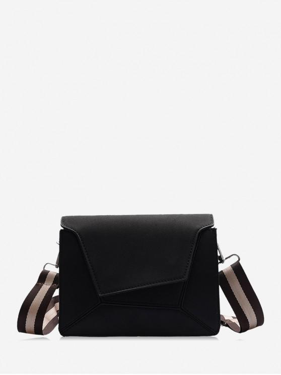 best Suede Geometric Crossbody Shoulder Bag - BLACK