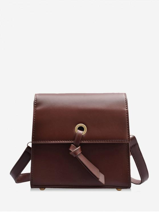 new Knot Accent Mini Leather Crossbody Bag - PUCE