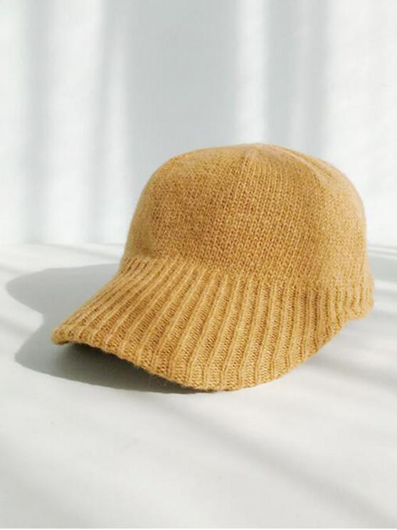 trendy Knitted Winter Peaked Hat - YELLOW