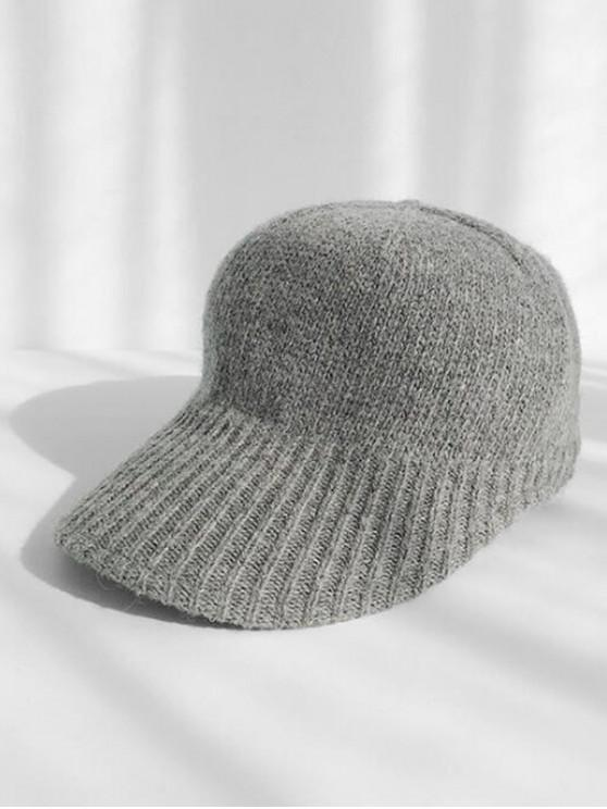sale Knitted Winter Peaked Hat - GRAY