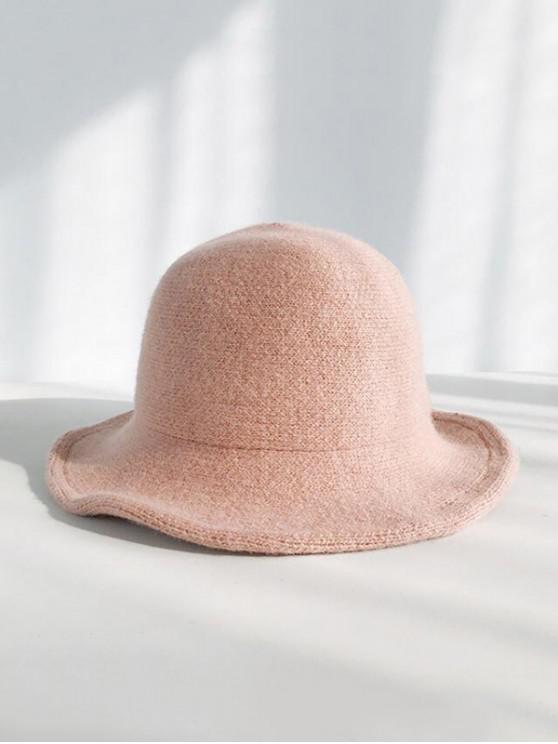buy Winter Wool Knitted Korean Bucket Cap - PINK
