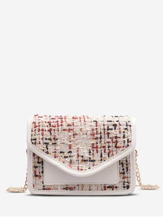 unique Chain Shoulder Messenger Bag - MILK WHITE