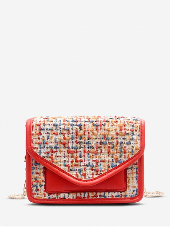 ladies Chain Shoulder Messenger Bag - ROSSO RED