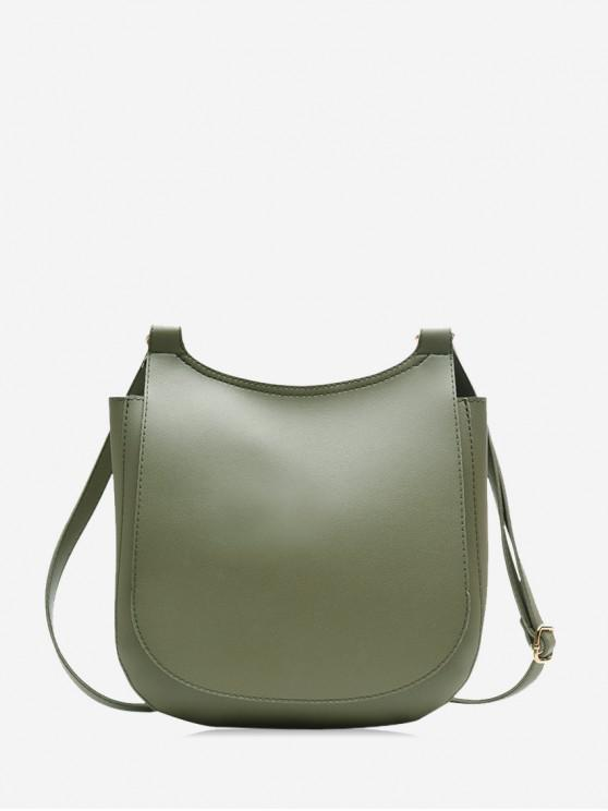 new Casual Big Simple Solid Shoulder Bag - CAMOUFLAGE GREEN