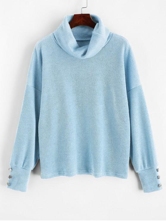 Ermäßigung Preis Herren Pullover mit V Ausschnitt Ozean Blau