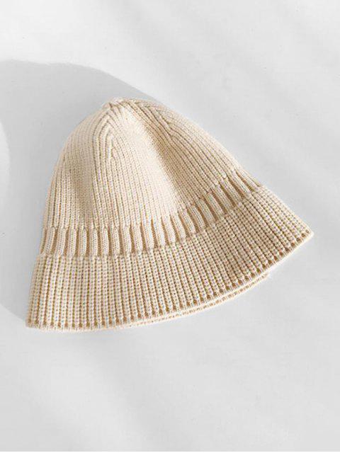 Chapeau d'Hiver Décontracté Elastique en Tricot - Beige  Mobile