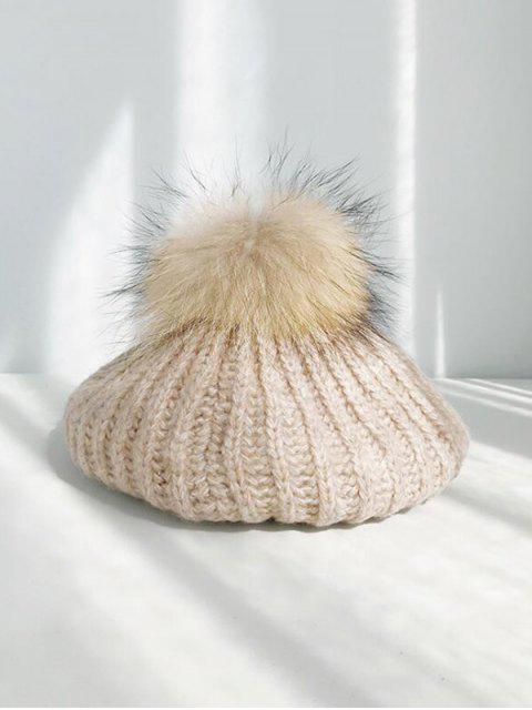 Зимняя Вязаная Шерстяная Шляпа - Хаки  Mobile