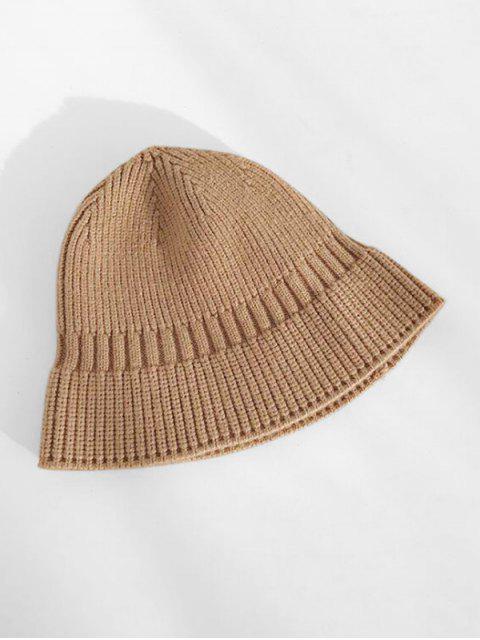 Chapeau d'Hiver Décontracté Elastique en Tricot - marron foncé  Mobile