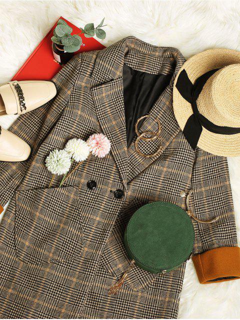 Manteau Long à Carreaux avec Poche à Revers - Multi-A M Mobile