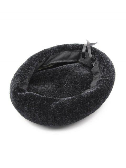 Chapeaud'Hiver Béret de Peintre Tricoté - Noir  Mobile