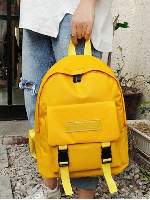 Водонепроницаемый Одноцветный Школьный Рюкзак - Солнце-желтый  Mobile