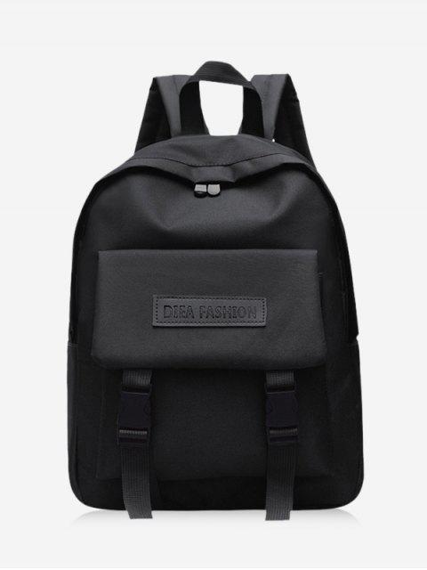 shops Waterproof Solid Student Backpack - BLACK  Mobile