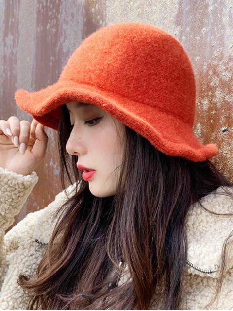 Зимняя Шерстяная Вязаная Шляпа-ведро - Оранжевый   Mobile
