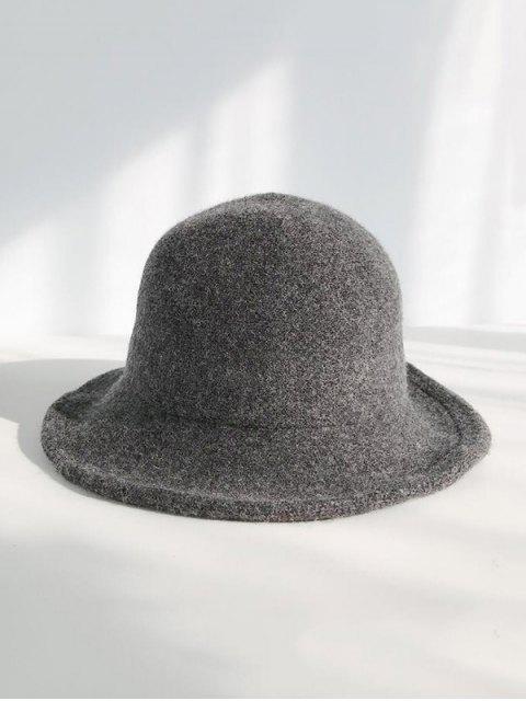 Зимняя Шерстяная Вязаная Шляпа-ведро - Темно-серый  Mobile