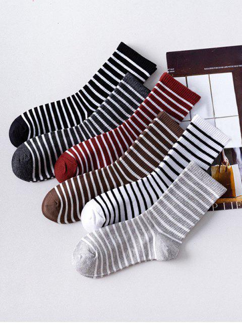 Ensemble de Chaussettes Rayé Imprimé 6 Paires - Multi-A  Mobile