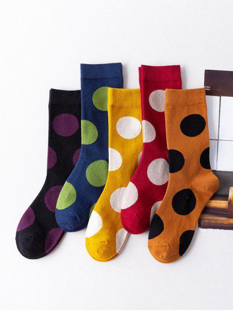 Ensemble de Chaussettes à Pois Imprimé 5 Pièces - Multi-A  Mobile