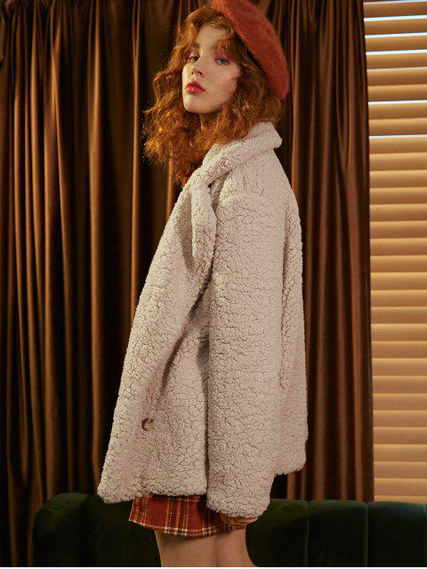 Manteau à Double Boutonnage à Revers - Blanc Chaud 2XL Mobile