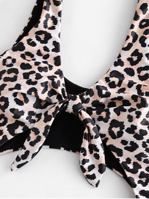 outfits ZAFUL Leopard Cut Out One-piece Swimsuit - LEOPARD S Mobile