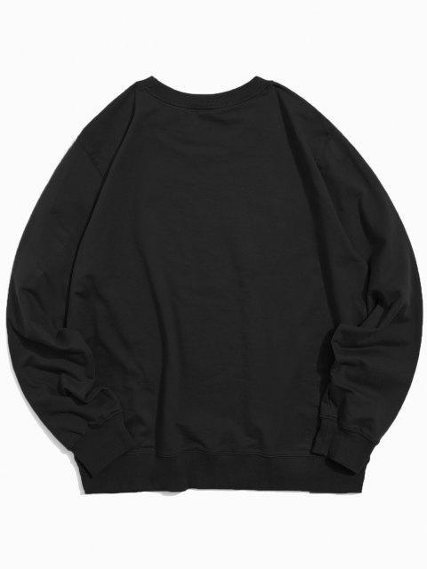womens Helping Hands Pattern Casual Sweatshirt - BLACK M Mobile