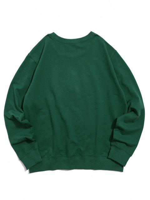 hot Helping Hands Pattern Casual Sweatshirt - DEEP GREEN XS Mobile