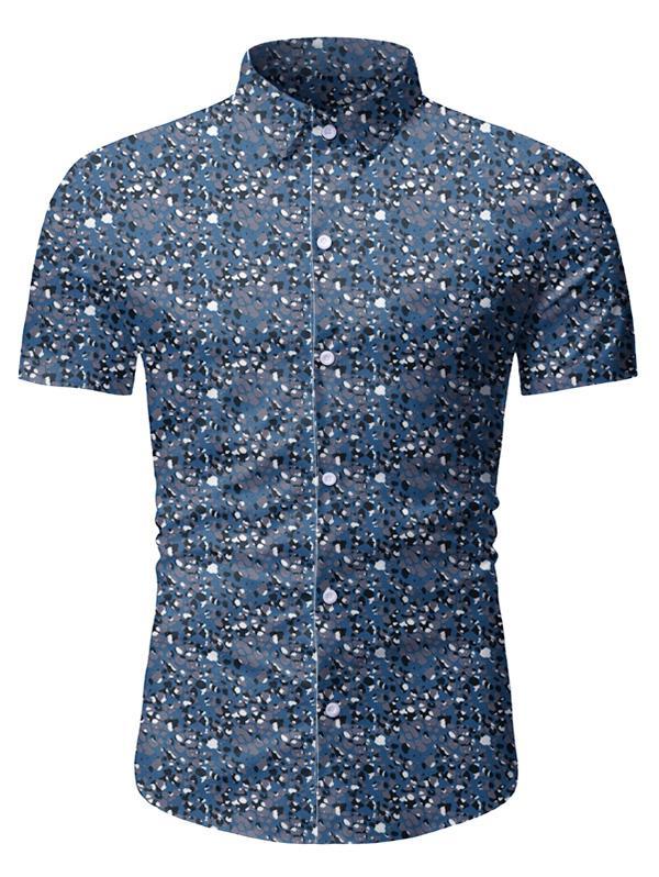 Vintage Printed Short Sleeves Button Shirt thumbnail