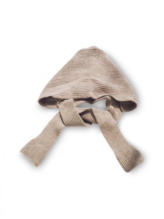 latest Winter Casual Hat Scarf Set - KHAKI