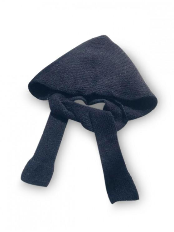 ladies Winter Casual Hat Scarf Set - BLACK
