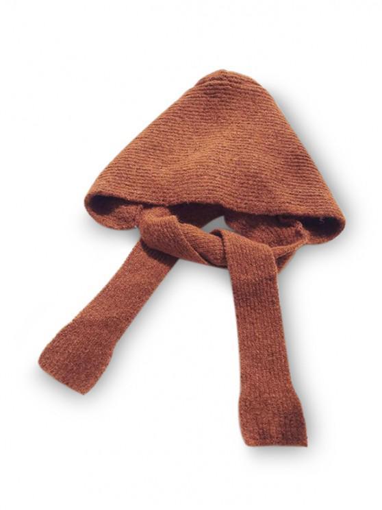 lady Winter Casual Hat Scarf Set - CARAMEL