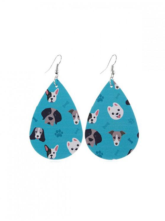 new Animal Print Leather Teardrop Earrings - MULTI-E